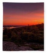 Acadia National Park Sunrise  Fleece Blanket