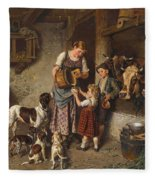 Adolf Eberle  Fresh Milk Fleece Blanket