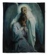 Agony In The Garden, Schwartz Fleece Blanket