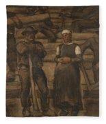 Albin Egger-lienz 1868 - 1926 The Ages Of Life Fleece Blanket