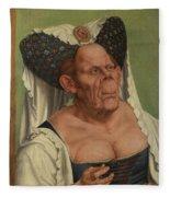 An Old Woman  The Ugly Duchess   Fleece Blanket