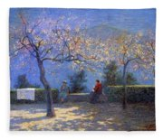 Angelo Morbelli 1853-1919, Spring In Colma - 1906 Fleece Blanket