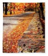 Autumn Avenue Fleece Blanket