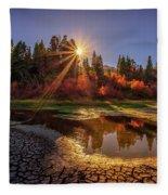 Autumn Sun Fleece Blanket