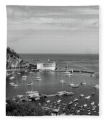 Avalon Harbor - Catalina Island, California Fleece Blanket