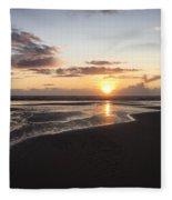 Beach Sunset, Blackpool, Uk 09/2017 Fleece Blanket