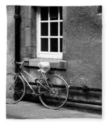 bicycle in Edinburgh close Fleece Blanket