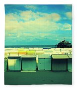 Blankenberge Beach Fleece Blanket