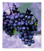 Blue Grape Bunches 7 Fleece Blanket