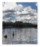 Buoys In The River Fleece Blanket