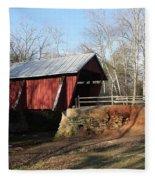 Campbell's Covered Bridge Fleece Blanket