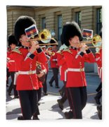 Changing Of The Guard In Ottawa Ontario Canada Fleece Blanket