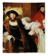 Christian II Signing The Death Warrant Of Torben Oxe  Fleece Blanket