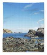 cliffs and coast at St. Abbs, Berwickshire Fleece Blanket