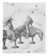 Cosmic Cowboys Fleece Blanket