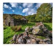 Cottage Ruin Snowdonia Fleece Blanket