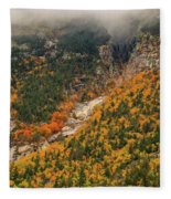 Crawford Notch Fall Foliage Fleece Blanket
