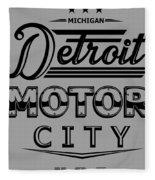 Detroit Motor City Fleece Blanket