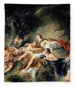 Diana And Actaeon Fleece Blanket