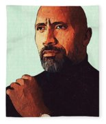 Dwayne Johnson Artwork Fleece Blanket