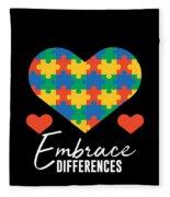 1 Embrace Differences Fleece Blanket