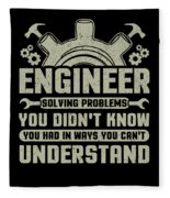 Engineer Problem Solver Engineering Career Fleece Blanket