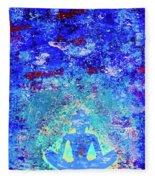 Enlightenment Blue Fleece Blanket
