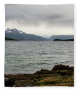 Ensenada Bay, Tierra Del Fuego National Park, Ushuaia, Argentina Fleece Blanket