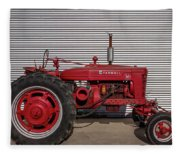 Farmall M And Steel Fleece Blanket