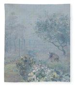 Foggy Morning, Voisins, 1874 Fleece Blanket