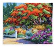 Garden Gate Fleece Blanket