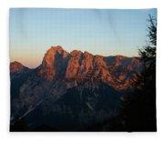 Glowing Mountains Fleece Blanket
