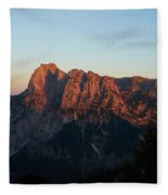 Glowing Mountains Fleece Blanket