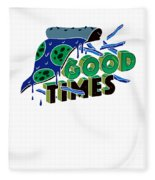Good Old Times Pizza Fries Born In The 90s Husband Wife Fleece Blanket