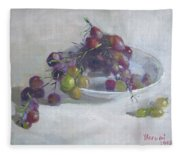 Greek Grapes Fleece Blanket