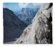 Grey Mountains Fleece Blanket