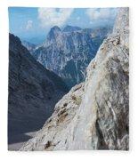 Grey Mountains Fleece Blanket