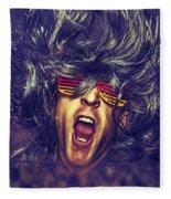 Heavy Metal Rock Star Fleece Blanket
