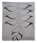 Heliconia Fleece Blanket