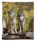 Howling Wolves Fleece Blanket