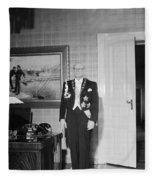 In The Photo The New President Of The Republic Urho Kekkonen Is Photographed At The Presidential Pa Fleece Blanket