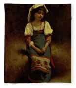Italian Woman Fleece Blanket
