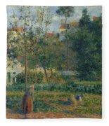 Kitchen Garden At The Hermitage, Pontoise, 1879 Fleece Blanket