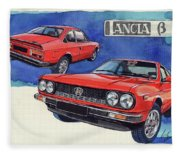 Lancia Beta 1300 Fleece Blanket