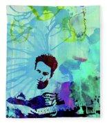 Legendary Joe Strummer Watercolor Fleece Blanket