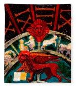 Lion Of St. Mark Fleece Blanket