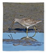 Long-billed Dowitcher Fleece Blanket