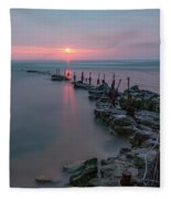 Longhoughton Beach - England Fleece Blanket