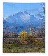 Longs Peak In The Fall  Fleece Blanket
