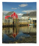 Low Tide At Blue Rocks  03 Fleece Blanket